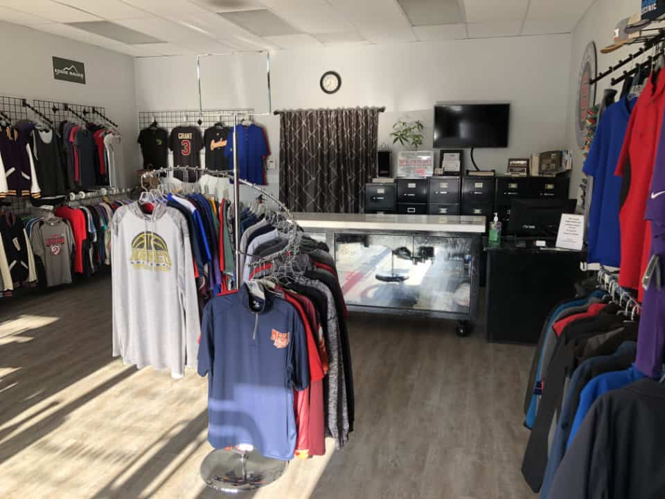 Shop interior front to back