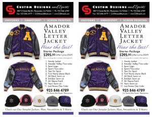 Amador High School varsity jackets flyer