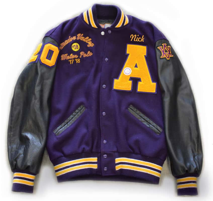Amador High School varsity jacket front