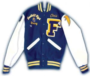Foothill High School varsity jacket front