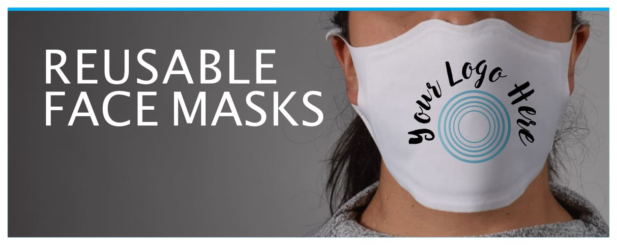 Face mask with sample logo