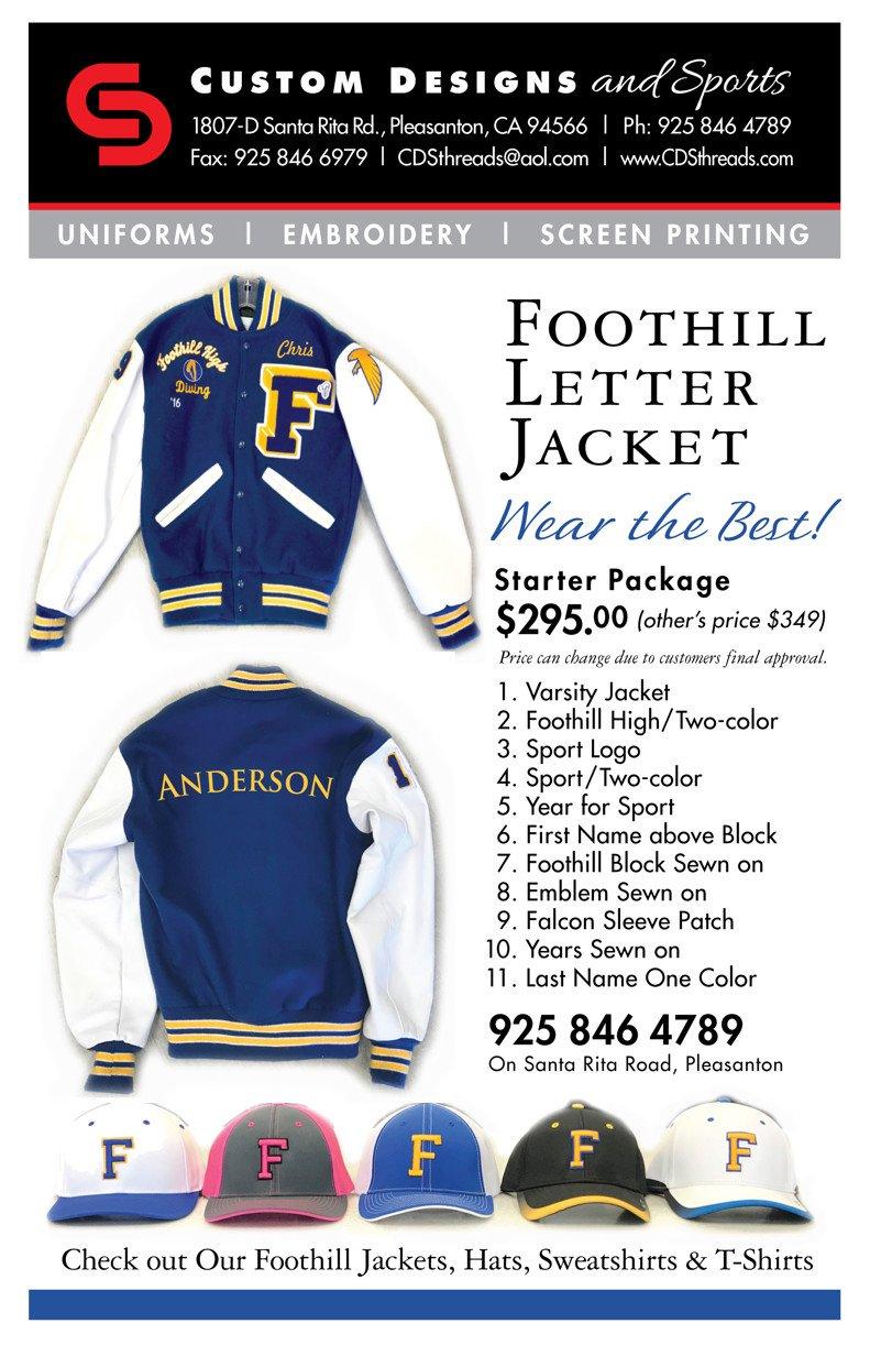 CDS Foothill varsity jacket flyer